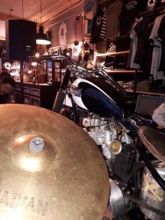 ACE Café, drum + bike